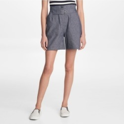 Karl Lagerfeld Paris Belted Linen Shorts found on Bargain Bro from Macy's for USD $60.42