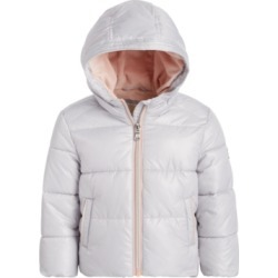 Michael Kors Baby Girls Pearlized Puffer Jacket
