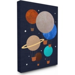 Stupell Industries Hot Air Balloon Planets Canvas Wall Art, 30