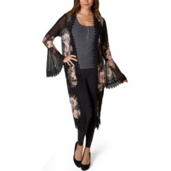 Polly & Esther Juniors' Floral Lace-Trimmed Kimono found on MODAPINS from Macy's Australia for USD $36.19