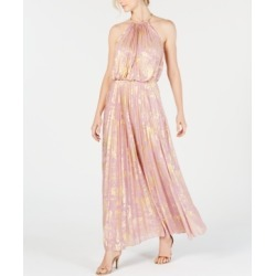 Msk Metallic-Print Pleated Maxi Gown found on MODAPINS from Macy's for USD $129.00