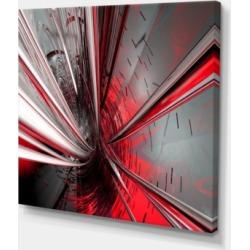 Designart Fractal 3D Deep Into Middle Abstract Canvas Art Print - 40