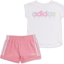 adidas Baby Girls 2-Pc. T-Shirt & French Terry Shorts Set found on Bargain Bro India from Macy's for $27.00
