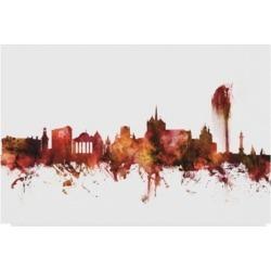 Michael Tompsett Geneva Switzerland Skyline Red Canvas Art - 37