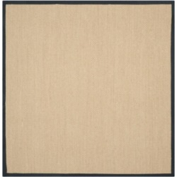 Safavieh Natural Fiber Maize and Black 6' x 6' Sisal Weave Square Rug found on Bargain Bro Philippines from Macy's for $172.80