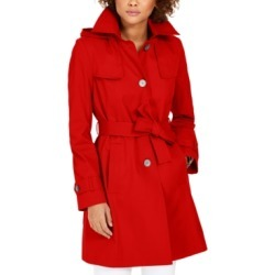 Via Spiga Belted Hooded Water-Resistant Trench Coat found on MODAPINS from Macy's Australia for USD $192.72