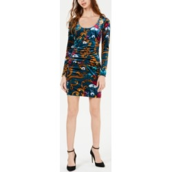 Guess Kae Printed Velvet Ruched Dress found on MODAPINS from Macy's for USD $29.36