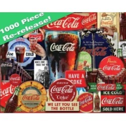 Springbok Puzzles Coca-Cola Decades of Tradition 1000 Piece Jigsaw Puzzle