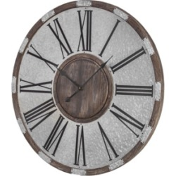 American Art Decor Wood and Oversized Vintage-like Wall Clock