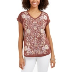 Style & Co V-Neck Printed T-Shirt, Created for Macy's found on MODAPINS from Macy's Australia for USD $31.40