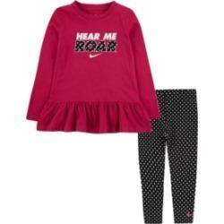 Nike Toddler Girls Peplum T-shirt and Leggings Set found on Bargain Bro India from Macy's for $44.00