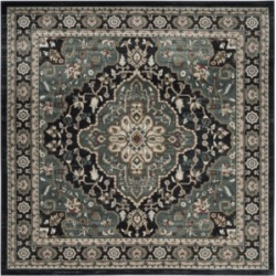Safavieh Lyndhurst Anthracite and Teal 7' x 7' Square Area Rug found on Bargain Bro India from Macy's for $196.00