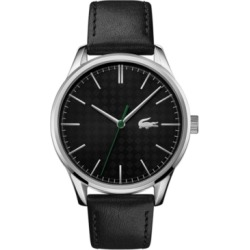 Lacoste Men's Vienna Black Leather Strap Watch 42mm found on Bargain Bro India from Macy's for $115.00