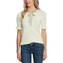 CeCe Ruffled Tie-Neck Sweater found on MODAPINS from Macy's for USD $59.25
