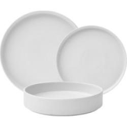 222 Fifth Kaden White 12 Piece Porcelain Dinnerware Set