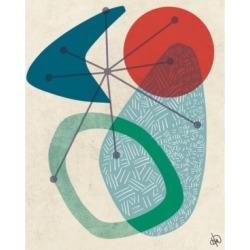 "Creative Gallery Retro Boomerang Sun Sea 36"" x 24"" Canvas Wall Art Print"