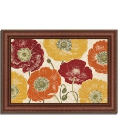 Tangletown Fine Art A Poppy's Touch I Spice by Daphne Brissonnet Framed Painting Print, 43