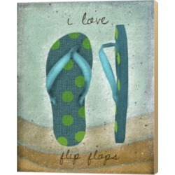 I Love Flip-Flops By Beth Albert Canvas Art found on Bargain Bro India from Macys CA for $75.13