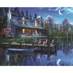 Springbok Puzzles Moonlit Night 1000 Piece Jigsaw Puzzle