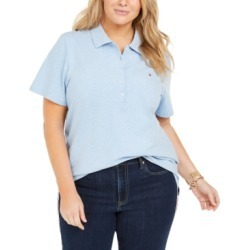 Tommy Hilfiger Plus Size Polo Shirt found on MODAPINS from Macy's for USD $39.99