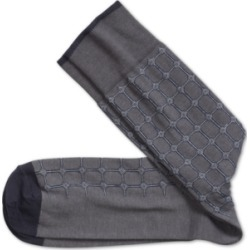 Johnston & Murphy Men's Heathered Circle Grid Socks found on Bargain Bro from Macy's for USD $12.16