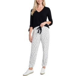 CeCe Floral-Print Drawstring Pants found on MODAPINS from Macy's for USD $47.40