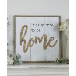 "Vip Home International Wood ""Home"" Sign"
