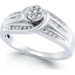Diamond Swirl Promise Ring (1/4 ct. t.w.) in Sterling Silver
