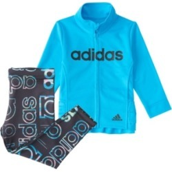 Adidas Baby Girls Long Sleeve Zip Front Hyperreal Jacket & Tight Set found on Bargain Bro India from Macy's for $48.00
