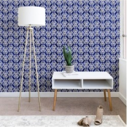 Deny Designs Schatzi Brown Justina Criss Cross Blue 2'x4' Wallpaper found on Bargain Bro Philippines from Macy's for $75.99