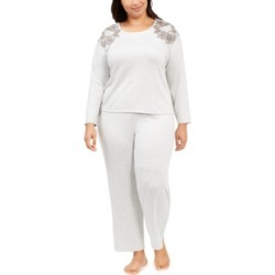 Charter Club Plus Size Embroidered Pajama Set, Created For Macy's found on Bargain Bro Philippines from Macy's Australia for $78.76