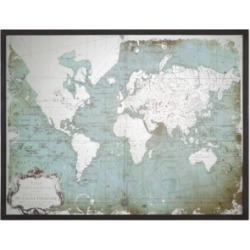 Uttermost Wall Art, Mirrored World Map found on Bargain Bro from Macys CA for USD $363.88