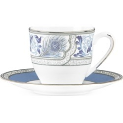 Marchesa by Lenox Sapphire Plume Espresso Cup and Saucer Set found on Bargain Bro Philippines from Macy's for $43.93