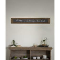 "Vip Home International Wood ""Humble and Kind"" Sign"