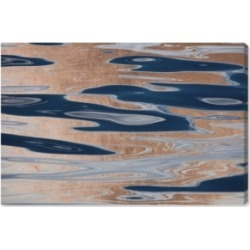 Oliver Gal David Fleetham - Ocean Surface Abstract Copper Canvas Art, 36