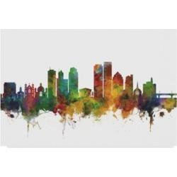 Michael Tompsett Dayton Ohio Skyline Ii Canvas Art - 15