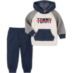 Tommy Hilfiger Baby Boys 2-Pc. Fleece Logo Hoodie & Jogger Pants Set found on Bargain Bro Philippines from Macy's for $50.00