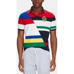 Polo Ralph Lauren Men's Classic-Fit Striped Mesh Polo Shirt found on MODAPINS from Macy's for USD $125.00