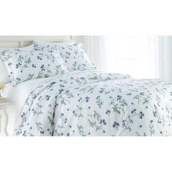 Southshore Fine Linens Forget Me Not Cotton Reversible 3 Piece Duvet Cover Set, Twin/Twin Xl Bedding