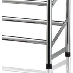 Home Basics 2-Tier Chrome Expandable Shoe Rack