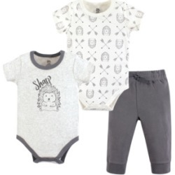 Baby Vision 0-24 Months Unisex Yoga Sprout Baby Bodysuit and Pant, 3-Piece Set