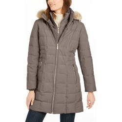 Michael Michael Kors Hooded Faux-Fur-Trim Down Puffer Coat, Created for Macy's found on Bargain Bro India from Macys CA for $200.62