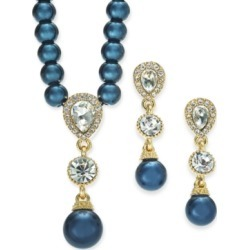 Charter Club Cubic Zirconia and Imitation Pearl Lariat Necklace & Drop Earrings Boxed Set, Created for Macy's found on Bargain Bro India from Macy's Australia for $21.99