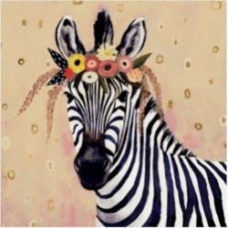 "Victoria Borges Klimt Zebra Ii Canvas Art - 15"" x 20"""