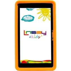 "Linsay 7"" New Kids Funny Quad Core Android 6.0 Tablet with Orange Defender Case Dual Cameras"