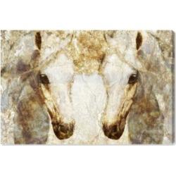 Oliver Gal Gold Stallions Canvas Art, 24