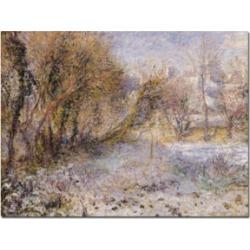 Pierre Auguste Renoir 'Snowy Landscape' Canvas Art - 24