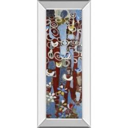 Classy Art Cut Paper Trees Ii by Erin McGee Ferrell Mirror Framed Print Wall Art, 18
