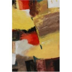 Pablo Esteban Red Black Yellow Abstract Canvas Art - 19.5
