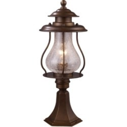 Wikshire 1-Light Outdoor Post Mount in Coffee Bronze